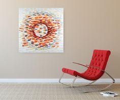 Acryl Gemälde 'Auf einem Blick' 100x100cm