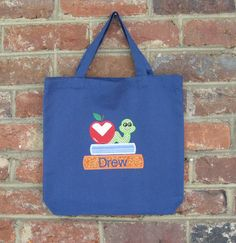 Personalized Preschool Tote Bag by DoWahDiddies on Etsy