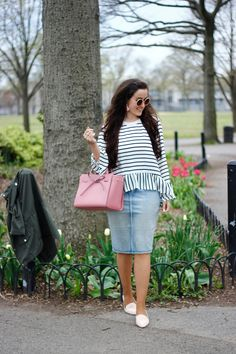 Trendy how to wear casual skirts shirts 50 ideas Casual Skirt Outfits, Casual Skirts, Modest Outfits, Modest Fashion, Cute Outfits, Apostolic Fashion, Apostolic Clothing, Denim Outfits, Denim On Denim