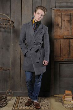 6c1535c2911 Christian Pellizzari Wool and Cashmere Mohair Wrap Coat. Men s Fall Winter  Fashion. Winter Outfits