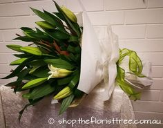 Very large Oriental Lily bouquet