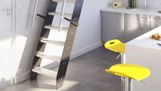 Escalier gain de place Venise en inox. À partir de 599 euros. Lapeyre