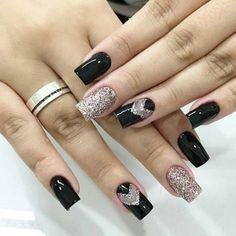 luxury#black #glitter #nails  #lookoftheday #uñas #negro #style #femenino  #brillo #fitnessgirl #blogger #fantastic #magazzine #gift #swarovski #mujer #fashionista #model #inspiration #picoftheday #jewelry #machala #jewelry #ootd #selfie #blogger #trend #miss #girlfriend #diseño #desing #perfect         trend trendy top fashion design beauty Trendy Tops, Black Glitter, Glitter Nails, Semi Permanent, Fashion Design, Gifts, Beauty, Style, Finger Nails