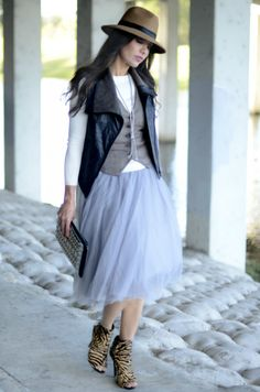 Tulle skirt with a masculine vibe...