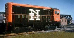 New Haven Railroad DEY-1b Alco HH660 switcher # 0921, is seen in an unknown railroad yard, early 1960's, Mac Seabree Collection
