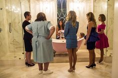 "Cathy, Ms Bean and the 1995 Kappa sisters in 1x04, ""Haunted House"". #ScreamQueens"