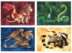 The Hogwarts Houses!