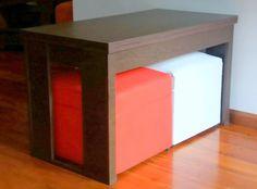 Mesa Ratona Elevable Y Extensible Ideal Para 4 Personas - $ 3.250,00