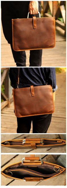 Handmade Crazy Horse Leather Laptop Bag Handbag Men Briefcase what is The Best Suitcases? Crazy Horse, Best Suitcases, Leather Folder, Chanel Vintage, Leather Laptop Case, Briefcase For Men, Computer Bags, Swag, Leather Bags Handmade