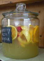 raspberry-peach sangria. don't know if this can wait till summer!
