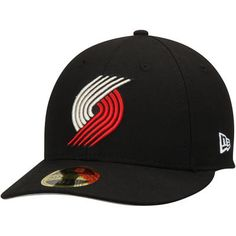 best authentic 4372a cf4aa Portland Trail Blazers New Era Official Team Color Low Profile 59FIFTY Fitted  Hat - Black