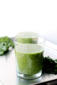 Banana Kale Smoothie Banana, Kiwi and Kale Smoothie