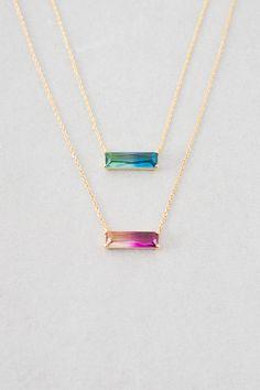 Lovoda - Ombre Stone Bar Necklace, $18.00 (https://www.lovoda.com/ombre-stone-bar-necklace/)