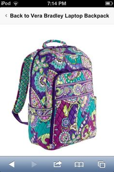 Vera Bradley Heather Laptop Backpack