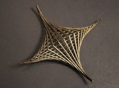 A stainless steel christmas decoration from top.