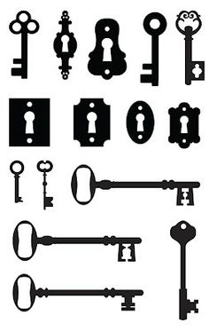 Des clés ~ KLDezign les SVG  FOLLOW THE ALUMINUM DISPOSABLE SHEET TUTORIAL ON THE 5536 PIN BOARD FOR THESE ANTIQUE KEYS