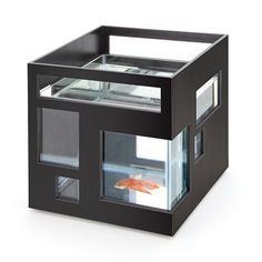 Check your fish in at the grand hotel and have a swimmingly good time! This cool fish bowl aquarium gives a new name to modern office d cor and features a glass fish bowl with a white ABS outer shell. Modern Fish Tank, Glass Fish Bowl, Cheap Christmas Gifts, Gadgets, By Lassen, Cool Fish, Fish House, Modern Glass, House Doctor