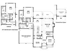 1st Floor Plan, 014H-0088