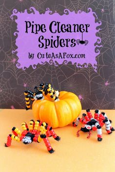 Beaded Pipe Cleaner Spiders from CuteAsAFox.com
