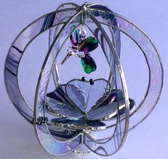 Stained Glass Suncatcher 3d Hummingbird by BayCreationsbyWendy, $53.00