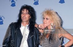 Musician Alice Cooper and musician Lita Ford attend the 31st Annual Grammy Awards on February 22, 1989 at the Shrine Auditorium in Los Angeles, California.