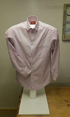 RM Williams The Bush Outfitter Long Sleeve Pastel Pink Stripe Shirt S Regular