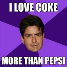 I love Coke more than Pepsi