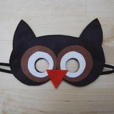 Globers Máscaras de animales en fieltro para niños. Búho. Cumpleaños y fiestas. Cool parties. Animals felt masks. Kids.