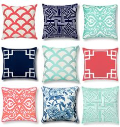 I love all these pillows! esp. the two navy ones. very classy  C. Wonder Pillows