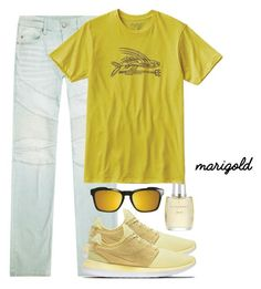 """yellow"" by purplicious ❤ liked on Polyvore featuring True Religion, NIKE, Patagonia, Oakley, Burberry, men's fashion and menswear"