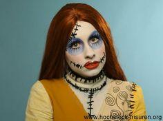 13 originelle Halloween Gesichter schminken mit Anleitungen | Hochsteck Frisuren