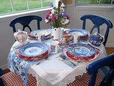 Tea party with (some) Liberty Blue