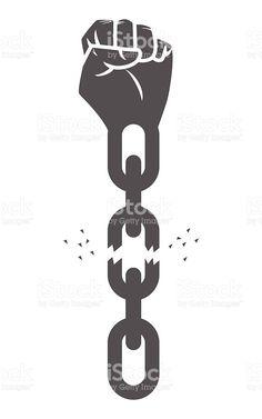 Freedom Art, Freedom Logo, Freedom Images, Freedom Design, Chain Tattoo, Africa Tattoos, Trill Art, Protest Art, Geniale Tattoos