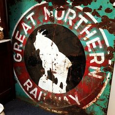 Great Northern Railroad, Northern Line, Flea Market Style, My Other Half, Hand Painted Signs, Minneapolis, Iowa, Flags, Minnesota