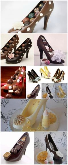 Chocolate High Heel Shoe Milk