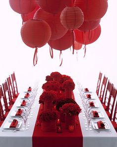red table design = love