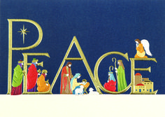 COME IN PEACE  Rich in color and luxurious detail, this Christmas card features the traditional figures of Christmas, depicted with deep embossing and texture for an elegant presentation. - See more at: http://greetingcardcollection.com/products/holiday-cards-holiday-greetings/386-come-in-peace