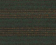 Edler Designer-Wollstoff, Wollgewebe aus Italien JANICE, Streifen, dunkelgrün-goldbraun