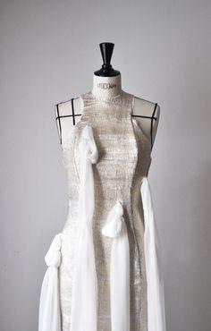 NEW// Nouvelle collection 2016. // Créatrice : Geraldine Daulon Facebook : https://www.facebook.com/Geraldine-Daulon-527270224104880/?pnref=story  Fashion // Couture // High Fashion // French // Paris // White and Gold //