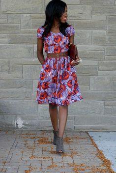 EShakti Tulip Print Crepe Dress
