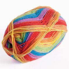 Felici Fingering Self Striping Sock - Rainbow 24914