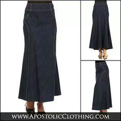 Long Jean Skirts