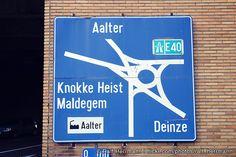 yowza. belgium road sign.