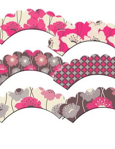 Poppies Cupcake Wrappers by outsidetheboxdessert on Etsy, $10.00