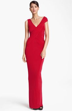 Donna Karan Collection Cap Sleeve Jersey Gown available at #Nordstrom