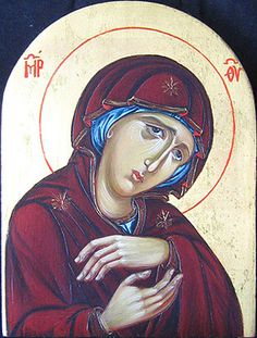 Our Lady of Sorrows painted by Marchela Dimitrova