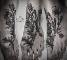 poppies tattoo by Ien Levin