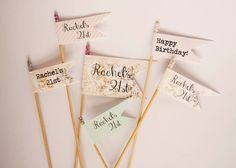 cocktail stirrers - personalised - pretty pastel glitter - set of 6