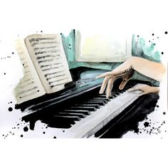 Easy Drawings Sketches, Girl Drawing Sketches, Pencil Art Drawings, Simple Canvas Paintings, Watercolor Paintings, Guitar Drawing, Piano Art, Phone Wallpaper Images, Record Art