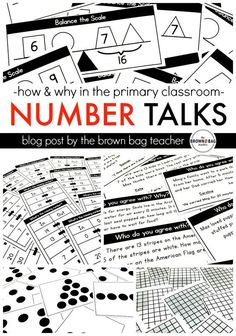 Number Talks: How and Why During mini-lessons and Guided Math, I am ALL about manipulatives. Base 10 pieces, unifix cubes, cuisenaire rods – give me all the math things. Especially in grade, manipulatives offer a concrete way to represent a number and Math Classroom, Kindergarten Math, Teaching Math, Teaching Ideas, Guided Maths, Teaching Time, Math Literacy, Math Stations, Math Centers